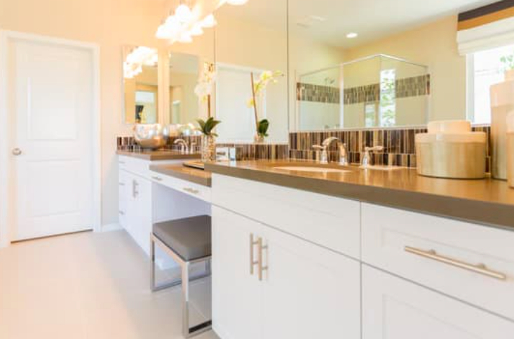 this image shows bathroom remodeling in Fullerton, California